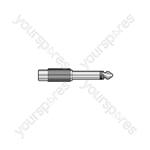 6.3mm Mono Jack Plug - RCA Phono Socket - Adaptor to socket, metal