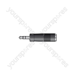 3.5mm Stereo Jack Plug - 6.3mm Stereo Jack Socket - WE1188A Adaptor to