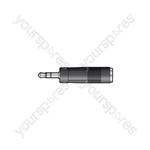 3.5mm Stereo Jack Plug - 6.3mm Mono Jack Socket - Skt Adaptor