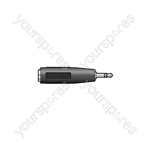 2.5mm Stereo Jack Plug - 3.5mm Stereo Jack Socket - WE1182A Adaptor to