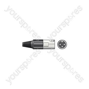 3-pin XLR Connectors - plug, short