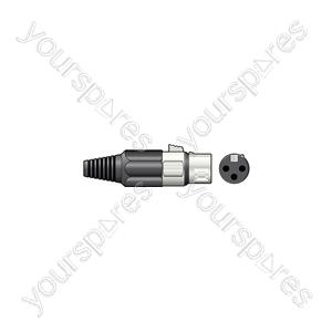 3-pin XLR Connectors - socket, short