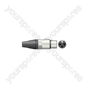 Neutrik® NC3FXX 3-pole XLR Line Connector - Socket, Bulk