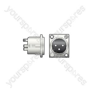 Neutrik® NC3MD-LX 3-pin XLR Chassis Plug - NEUTRIK®, 3pin solder terminals - NC3MD-L-1