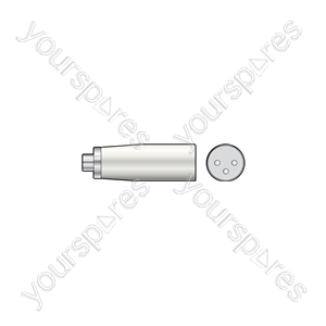3-pin XLR Male - RCA Phono Socket - Plug