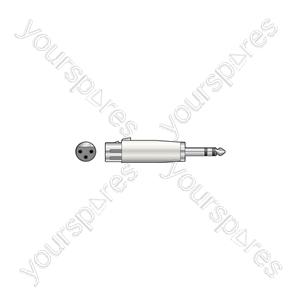 3-pin XLR Female - 6.3mm Stereo Jack Plug - Socket