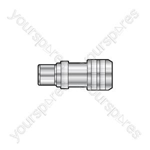 Aluminium coax plug