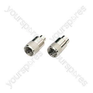 Standard UHF Connectors - PL259 plug for 6mmØ cable
