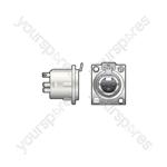 Neutrik® NC3FDLX 3 Pin XLR Panel Socket - NC3FDX 3-pin chassis female - NC3FD-L-1