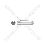 3-pin XLR Female - RCA Phono Socket - Adaptor to