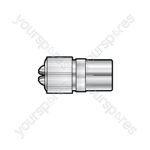 Precision Coaxial Socket - Nickel Plated Brass - bulk