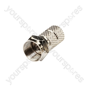 F-Type Connector RG6 and 100 - Twist-on - STV19F for cable, bulk pack