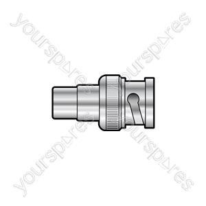 BNC Plug - RCA Phono Socket - WE1765Y Adaptor