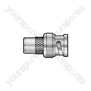 BNC Plug - F Socket - Adaptor to