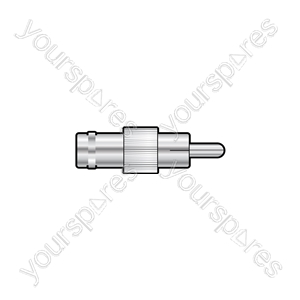 BNC Socket - RCA Phono Plug - Adaptor, to