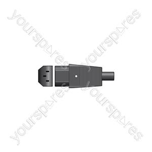 IEC In-line Socket C13 - Pin