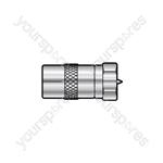 F Plug - Coax Socket - WE1723 Adaptor to TV