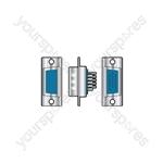 High density 15 pin D type socket