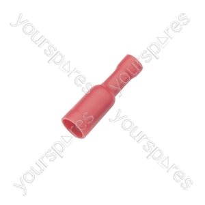 Crimp terminal, female bullet, 1.5 - 2.5mmØ cable, 5.0mm, Blue