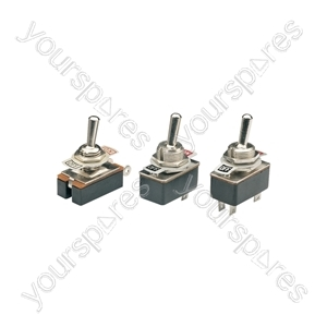 Toggle switch with indicator plate, 1 x on/off, 250Vac, 1.5A