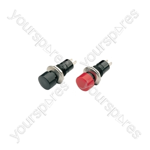 Round latching switch, 250Vac, Red