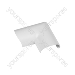 Clip-over trunking accessories 30x15 - white Door Top Bend 30x15mm Bag of - FLDB3015W-5PK