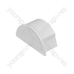 D-Line Smooth Fit adaptors 30x15 - End Cap 30x15mm Bag of - EC3015W-5PK