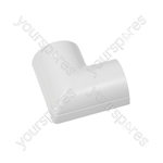 Clip over trunking accessories 50x25 - Clip-Over white Flat Bend 50x25mm Bag of - FLFB5025W-5PK
