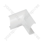 Clip over trunking accessories 50x25 - Clip-Over white Internal Bend 50x25mm Bag of - FLIB5025W-5PK