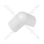 Clip over trunking accessories 50x25 - Clip-Over white External Bend 50x25mm Bag of - FLEB5025W-5PK