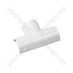 Clip over trunking accessories 50x25 - Clip-Over white Equal Tee 50x25mm Bag of - FLET5025W-5PK