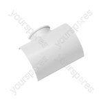 Clip over trunking accessories 50x25 - Clip-Over Adaptor Tee 50x25mm Bag of - FLAT5025W-5PK