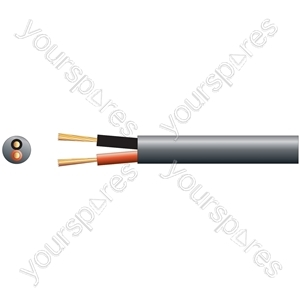Heavy Duty Double Insulated 100V Line Speaker Cable - Cable, 2 x (79 x 0.18mmØ)