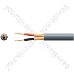 2 Core Individual Lap Screen - core, x 20/0.1mm, x 51/0.1mm, 6.5mmØ, Black, 100m