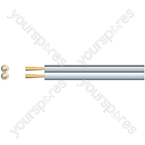 Speaker Cable High Quality Figure 8 - OFC - Cable, 2 x (79 x 0.15mmØ), White, 100m
