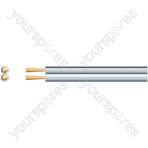 Economy Fig 8 Speaker Cable - CCA - Cable, 2 x (79 x 0.2mmØ)