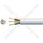 3183Y 3 Core Round PVC, 300/500V, HO5VV-F3, 15A - mains x 48/0.2mm, 15A, 8.7mmØ, White, 100m
