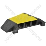 3 Channel Cable Guard Corner Sections - Right 22.5° - CGIIIR