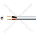Hi Flex Double Insulated Speaker Cable - cable, 2 (24 0.2mmØ) White