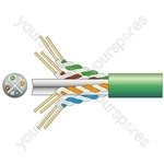 Cat6 U/UTP Network Cable - 305m Green