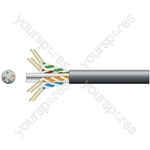 Cat6 U/UTP Outdoor Network Cable - 305m Black