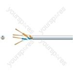 Economy Telephone Cable - 2 Pairs CCS White 100m