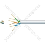 Economy Telephone Cable - 3 Pairs CCS White 100m