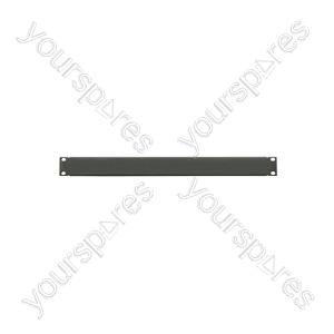 "19"" Blanking Panels - plate, 1U, blank, black"