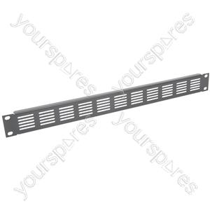 """19"""" Blanking Panels - plate, 1U, vented, black"""