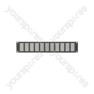"""19"""" Blanking Panels - plate, 2U, vented, black"""