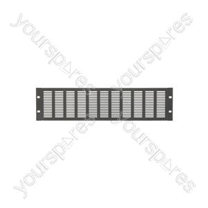 """19"""" Blanking Panels - plate, 3U, vented, black"""