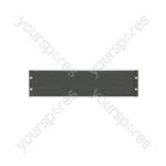 "19"" Blanking Panels - plate, 3U, blank, black"