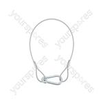 Galvanised Steel Safety Wires - 4mmØ - x 600mm 90kg - SWB-4600