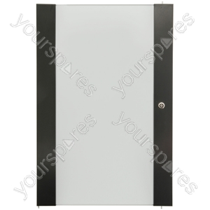 Lockable Toughened Glass Doors - - 16U